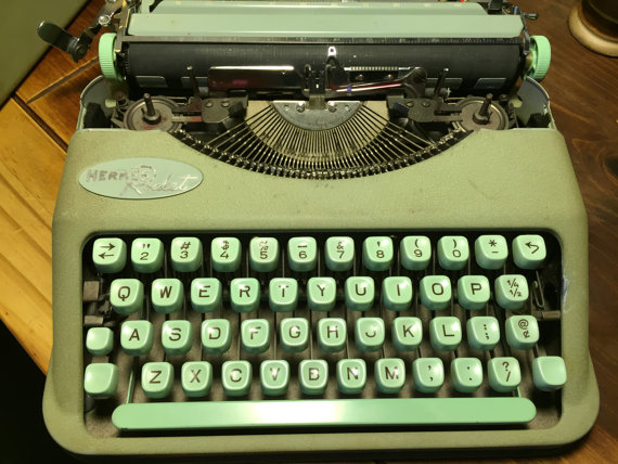 typewriter-green
