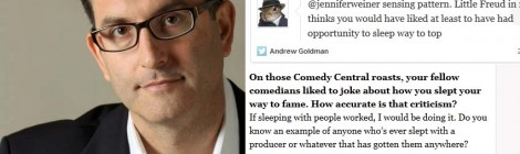 Does Andrew Goldman, New York TImes Misogynist, Owe His Career to a Harvey Weinstein Headlock?